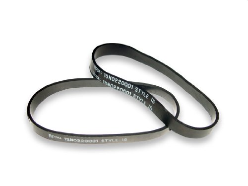 Dirt Devil Royal Belt, Style 15 Dynamite (Pack of 2), Black