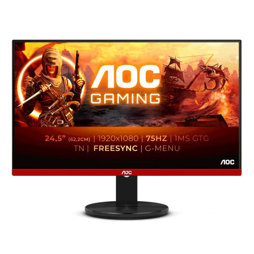 """AOC G2590VXQ - Monitor Gaming de 25"""" 75 Hz Full HD (1920 x 1080 Pixeles, Altavoces, 1 ms, FreeSync, Flickerfree , Shadow Control, Displayport, HDMI)"", negro/rojo"