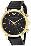 Emporio Armani Men's AR1917 Dress Black Leather Watch