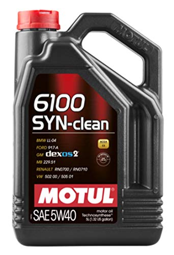 MOTUL 107943 - LATA ACEITE 6100 SYN-CLEAN 5W40 5L