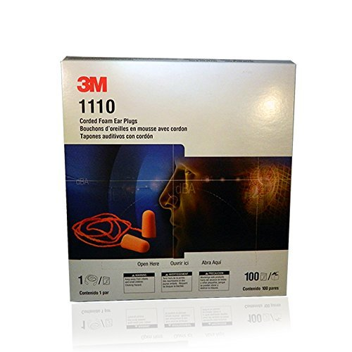 Daily bargain sale 3M 1110 Disposable Foam Dealing full price reduction Ear Plug Reducer - earplugs Corded Noise