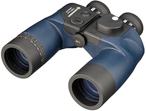 Bresser verrekijker Topas 7x50 WP met ingebouwd kompas in het gezichtsveld en waterdichte, schokbestendige behuizing inclusief zwemband en tas