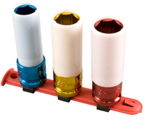 Sunex 2842 Steckschlüsselsatz, metrisch, extra dünn, mit 1/2-Zoll-Antrieb, 3-teilig