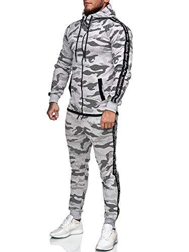 Code47 Chándal para hombre gris XL