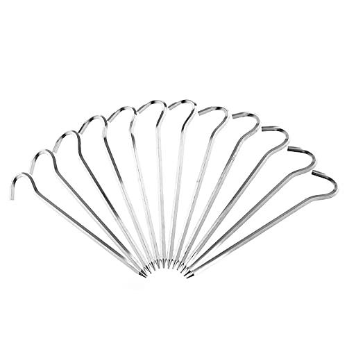 LYYDAN Heringe, 12 Stück Zeltheringe, Sechseckige Zeltnägel Aus Aluminiumlegierung, 0.6cmx18cm, Sandheringe Für Camping Markise Netting Plane