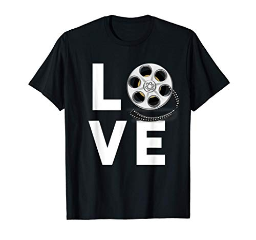 I Love Movies Shirt Gifts for Film Lovers, Students & Fans T-Shirt