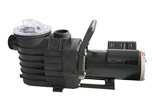 FlowXtreme NE4491 48S 2-Speed In-Ground Pool Pump, 1 HP/2500-600 GPH/115V, Black