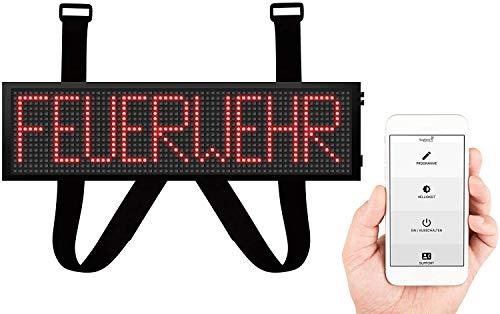 LED Frontwarnsystem | Einsatzschild | Multicolor WiFi - Android und iOS App - Handygesteuert - Dachaufsetzer-Ersatz - LED Einsatzschild zum selbst programmieren