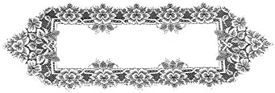 Heritage Lace Heirloom 14-Inch by 33-Inch Runner, White