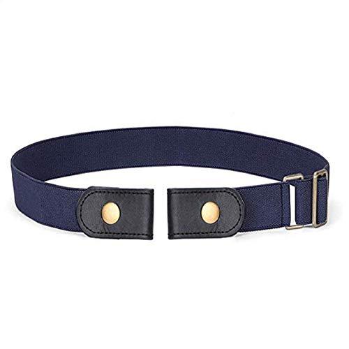 Cinto elástico invisível sem fivela Fanshou para homens e mulheres, Denim Blue, 80-110cm