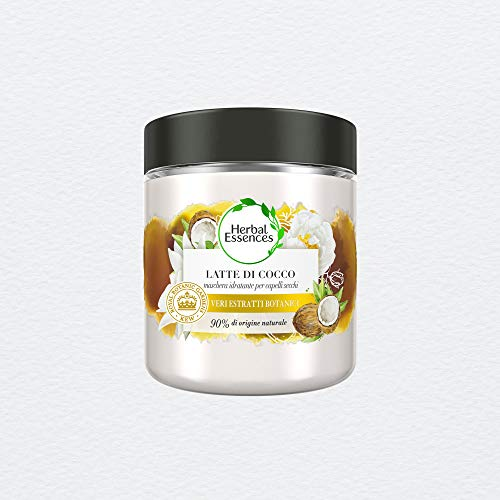 Herbal Essences Maschera Idratante Latte di Cocco, in Collaborazione con Giardini Botanici Reali di Kew, 250 ml
