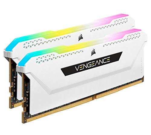 Corsair Vengeance RGB PRO SL 32GB (2x16GB) DDR4 3600 (PC4-28800) C18 1.35V Desktop Memory - Weiß