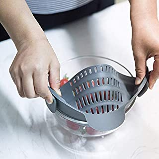 Sortim Colador de tensión de Silicona para Cocina, se Adapta a Todas Las ollas, Cuencos y Accesorios de Cocina, Gris (Gris) - 2hb0xs4vn4cg5gt7D04