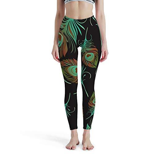 Lind88 Womens Sport Broek, Vleugels Ontwerp Stijlvolle Leggings Capri Workout Panty -Folk-Custom Leggings Depot Capri Leggings voor Vrouwen