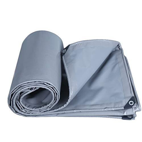 Bâches BWZF Tarpaulin Waterproof Heavy Duty - Feuille de bâche Grise - Couverture de qualité supérieure Fabriquée en bâche de 550 g/mètre carré (Taille : 5x7m)