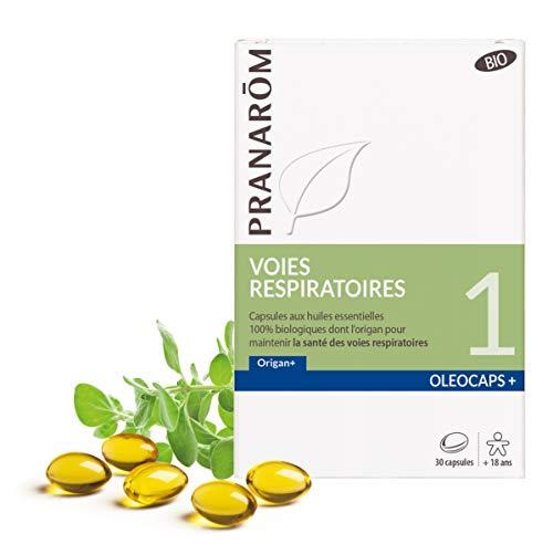 Pranarôm | OléoCaps+ 1|Capsules d'Huiles Essentielles Bio|Voies Respiratoires|Origan|30 Capsules