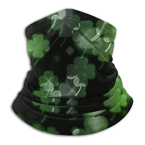 Irish Clovers St Patrick'S Day Neck Warmer Man Woman Neck Gaiter Face Mask For Cold Weather Outdoors Festivals Sports