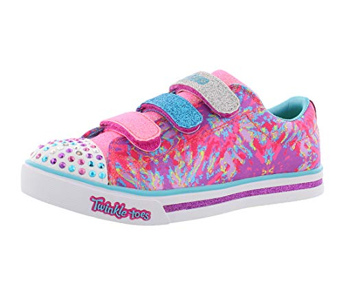Skechers Mädchen Sparkle Glitz - Pop Party Sneaker, Mehrfarbig (Hot Pink/Multicolour), 35 EU