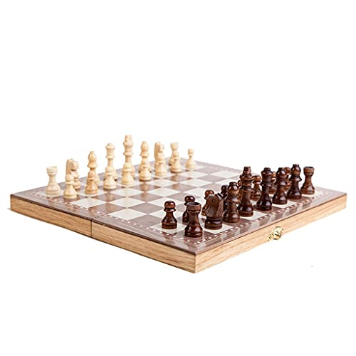 3190 Creativo Juego de ajedrez de Madera Maciza, Tablero Plegable de Ajedrez de ajedrez Agradable de Alta Gama Alta de 12 Pulgadas,...
