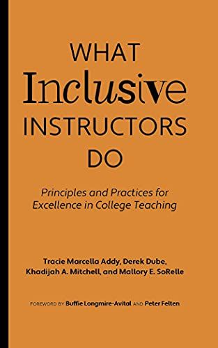 Compare Textbook Prices for What Inclusive Instructors Do: Principles and Practices for Excellence in College Teaching  ISBN 9781642671926 by Addy, Tracie Marcella,Dube, Derek,Mitchell, Khadijah A.,SoRelle, Mallory E.,Longmire-Avital, Buffie,Felten, Peter