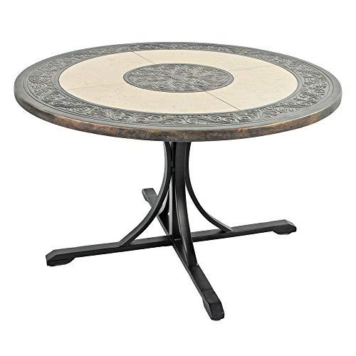 Byron MANOR ST MALO 122cm Dining Table, Beige & Dark Brown