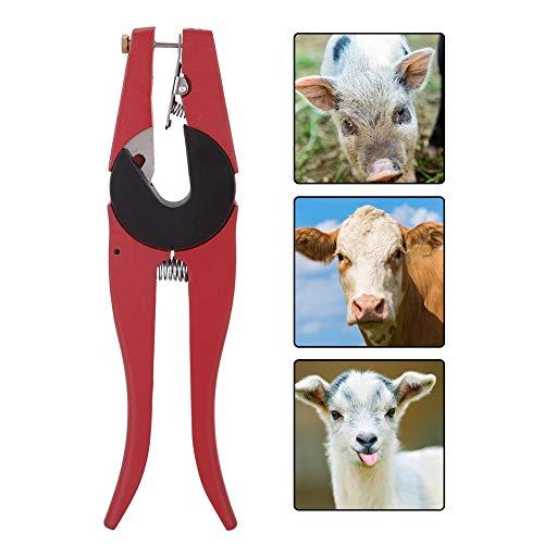 Aves de corral Oreja Alicates Aleación de aluminio Cerdo Vaca Ganado Aplicador Perforador Etiquetador Dispositivo de control de ganado Animales de granja