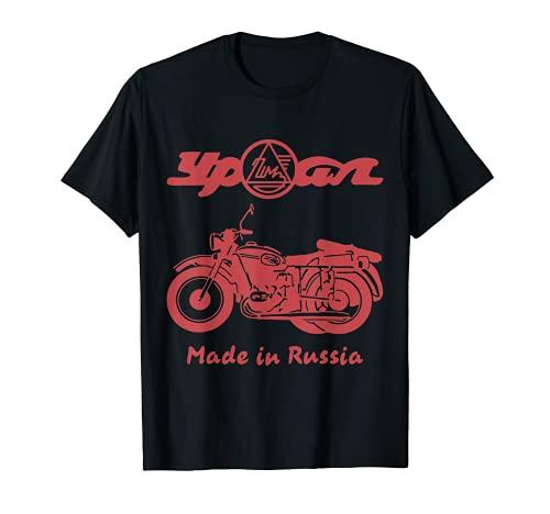 Ural - Casco para moto todoterreno, ciclista cirílico Camiseta