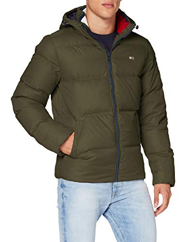 Tommy Jeans Herren TJM ESSENTIAL DOWN JACKET_DM0DM08762 Jacke, Dark Olive, M