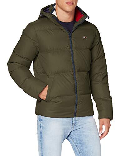 Tommy Jeans Herren TJM Essential DOWN Jacket_DM0DM08762 Jacke, Dark Olive, L