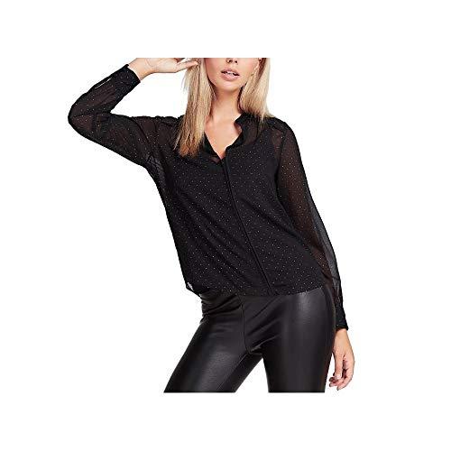 Guess Damenbluse schwarzes Hemd W01H70WCLR0-JBLK XL