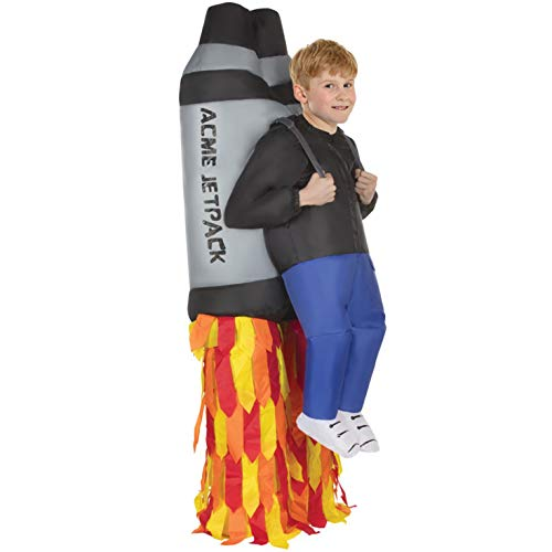 Morph Costumes - Jet Pack Kids Inflatable Costume - Great Illusion Fancy Dress Outfit One size fits most Children upto 5ft