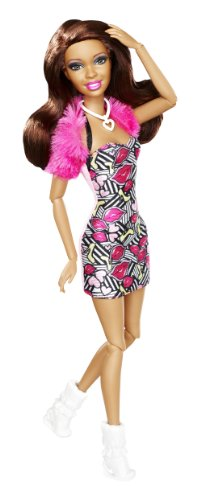 Barbie - Muñeca Fashionistas, Nikki, Color Rosa (Mattel