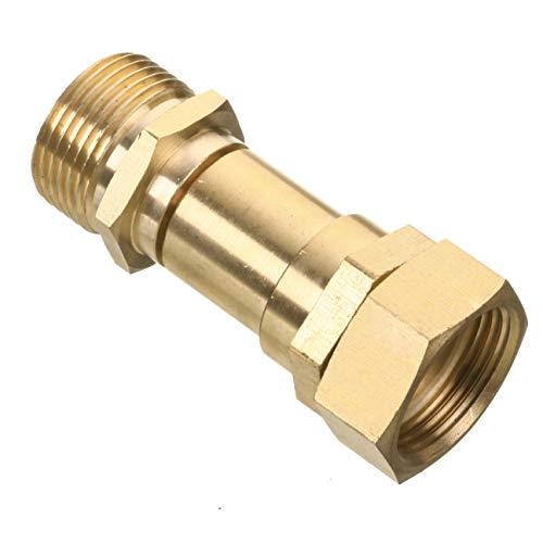 Mingle Pressure Washer Swivel Joint, Kink Free Gun to Hose Fitting, Metric M22 14mm, 3000 PSI