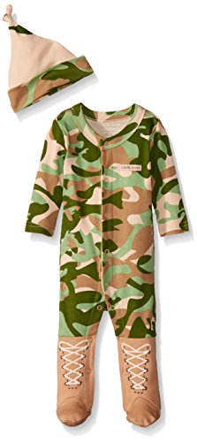 Big Dreamzzz Baby Camo 2-Piece Layette Set in Backpack Gift Box, Tan, 0-6 Months by Baby Aspen