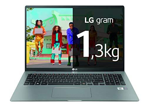 LG gram 17Z90N-V-AA78B - Ordenador portátil ultraligero de 17' WQXGA IPS (Intel Core i7-1065G7, 16GB RAM, 512GB SSD, Windows 10 Home+) Plata - Teclado QWERTY Español