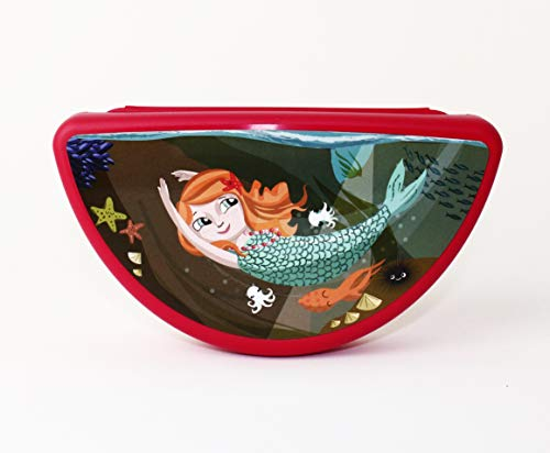Tupperware Vesperbox Snackox - Fiambrera semicircular para niña, diseño de sirena