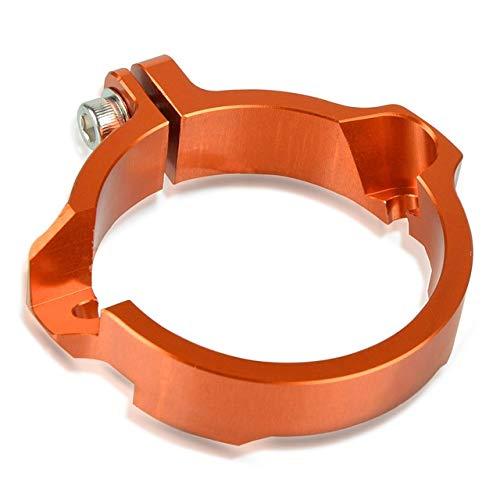 Anhuidsb Scarico CNC presa flangiato Guard for Husqvarna TE 250/300 TC TX 2017-2020 2019 2018 Scarichi Tip morsetto del silenziatore del tubo con flange (Color : Orange)