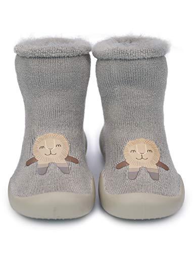 Adorel Zapatos Antideslizantes Calcetines Invierno para Beb