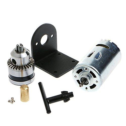 Ontracker Taladro manual manual 555 con motor de 1/8 pulgadas y soporte de montaje de 12-36 V