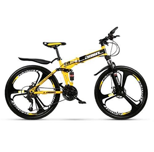 LQ&XL Bicicleta Montaña Plegable para Adultos Rueda De 26 Pulgadas Bici Mujer...