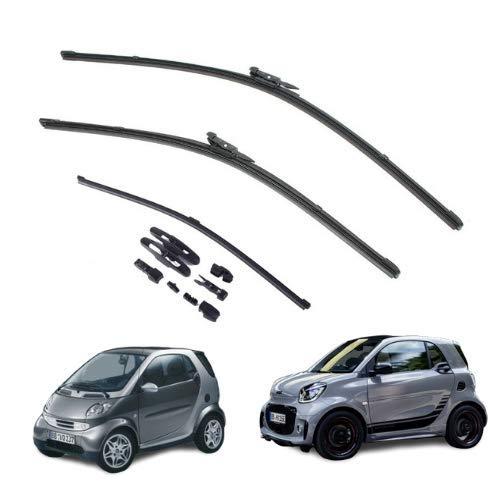 AOQ – Spazzole tergicristallo anteriori e posteriore set da 3 - Smart fortwo