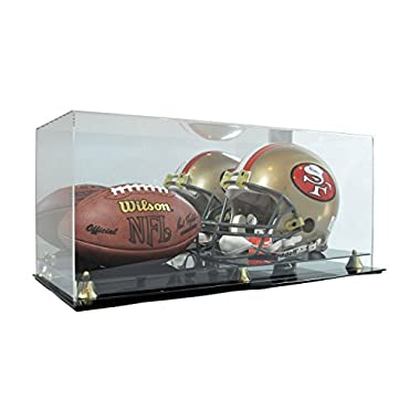 Deluxe Acrylic Full Size Football Helmet and Football Display Case