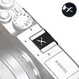 VKO Cubierta protectora para zapata de cámara compatible con Fujifilm XPro3 XPro2 XT4 XT3 XT2 XT1 X-T30 X-T20 X-T10 XE3 XE2S X100V X100F X100T X100 Kit de botón de liberación suave (BSXB)