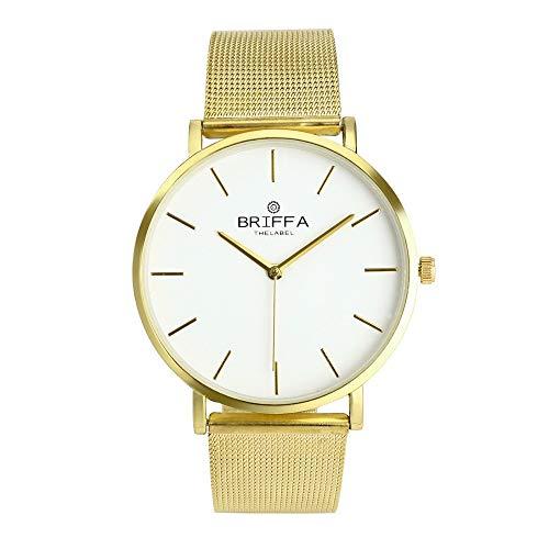 Relojes Hombre,ZODOF Reloj de Pulsera de Analógico de Cuarzo Relojs Elegante Impermeable Negocios Relojes para Unisex