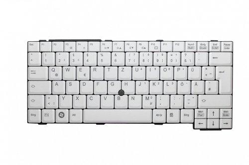 Tastatur, deutsch (DE) - mit Touchstick - weiß CP297221-02 für Fujitsu Celsius H240, H250, H700, H710 / LifeBook C-1410, E780, E-8110, E-8210, E-8310, E8410, E8420, S-4110, S-6420, S-6520, S710, S7110