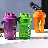 FISISZ Sport Shaker Bottle 400Ml Proteína de suero en Polvo Botella mezcladora Sport Fitness Gym Shaker Outdoor Portable Plastic Drink My Bottle-Army Green
