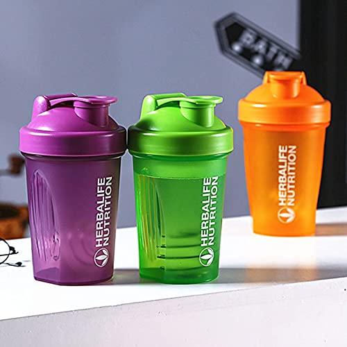 FISISZ Sport Shaker Bottle 400Ml Whey Protein Powder Mixing Bottle Sport Fitness Gym Shaker Outdoor Portable Plastic Drink My Bottle-Borgogna