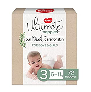 Huggies Ultimate Nappies, Unisex, Size 3 (6-11kg), 72 Count (B07H7NPLGH) | Amazon price tracker / tracking, Amazon price history charts, Amazon price watches, Amazon price drop alerts