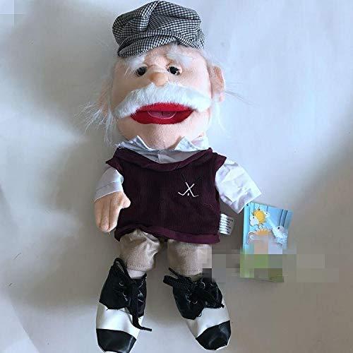 LIZHIOO Marioneta Policía Capitán Pirata Marioneta Peluches Marionetas de Peluche Ventrílocuo Marionetas de Mano Niños Niños Juguetes 40cm ( Color : Old Man )