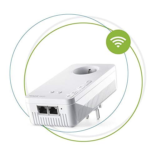 devolo Magic 2 WiFi Next: Der schnellste WLAN-Powerline-Adapter der Welt (2400 Mbit/s, 2 Gigabit Ethernet-Ports) ideal Telearbeit und Streaming